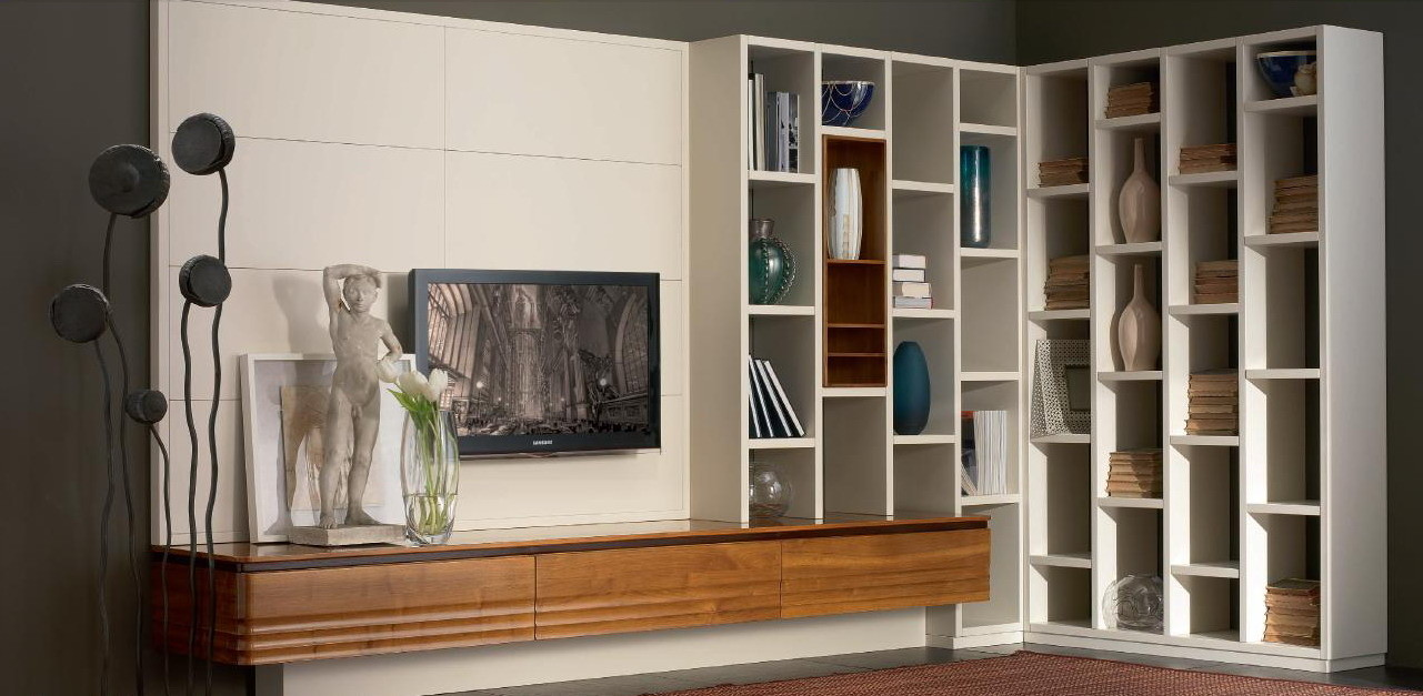 Книжный шкаф / стенка elettra day evagreen studio.