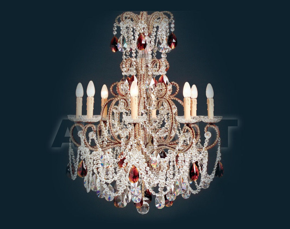 Купить Люстра Badari Lighting Candeliers With Crystals B4-55/8AMBER