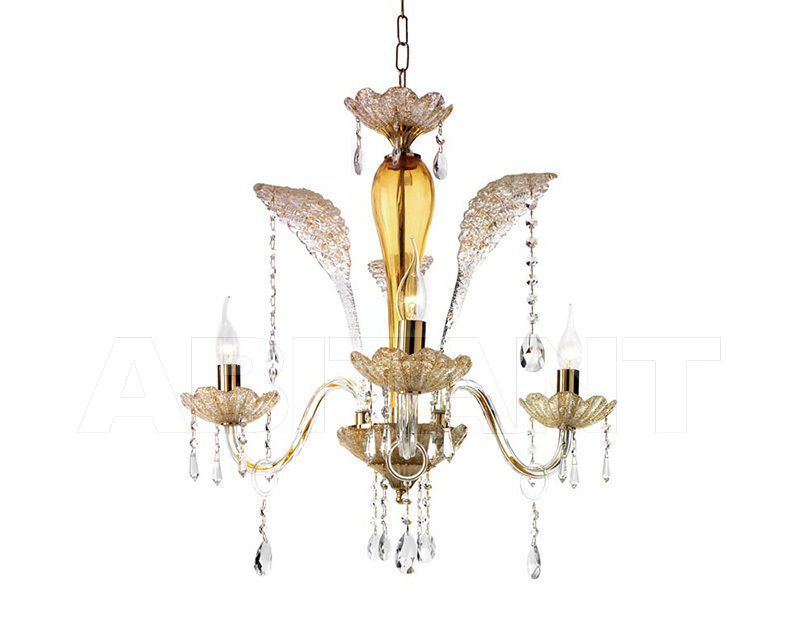 Купить Люстра Ciciriello Lampadari s.r.l. Lighting Collection GOCCIA ambra lampadario 3 luci