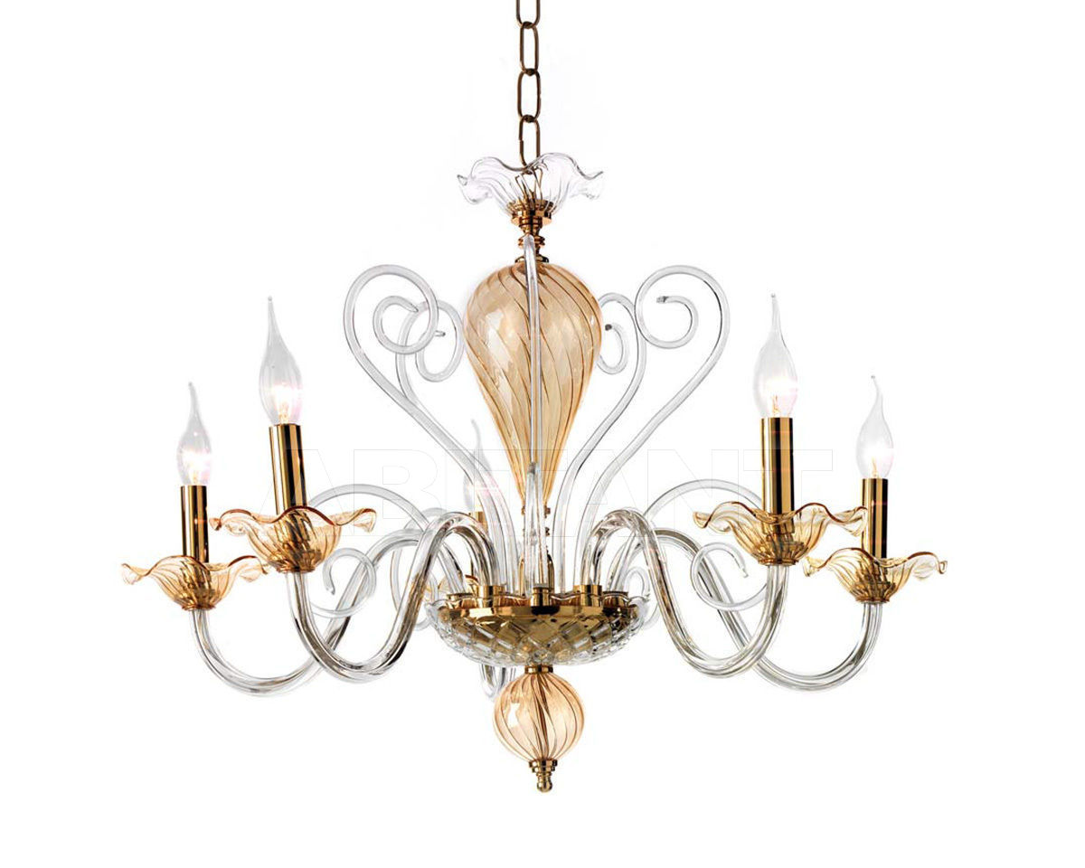 Купить Люстра Ciciriello Lampadari s.r.l. Lighting Collection NINFEA lampadario 5 luci