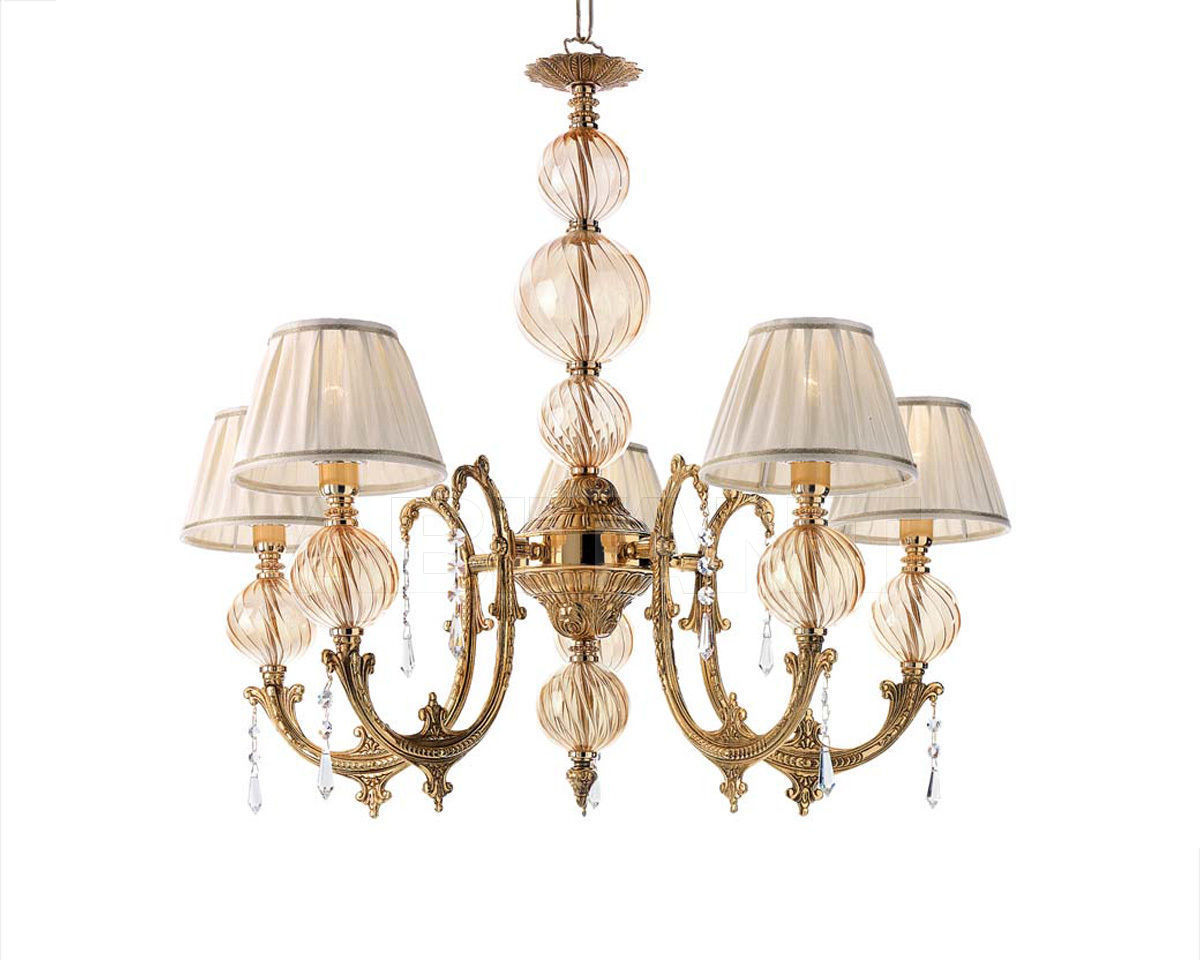 Купить Люстра Ciciriello Lampadari s.r.l. Lighting Collection NEW AMBER lampadario 5 luci