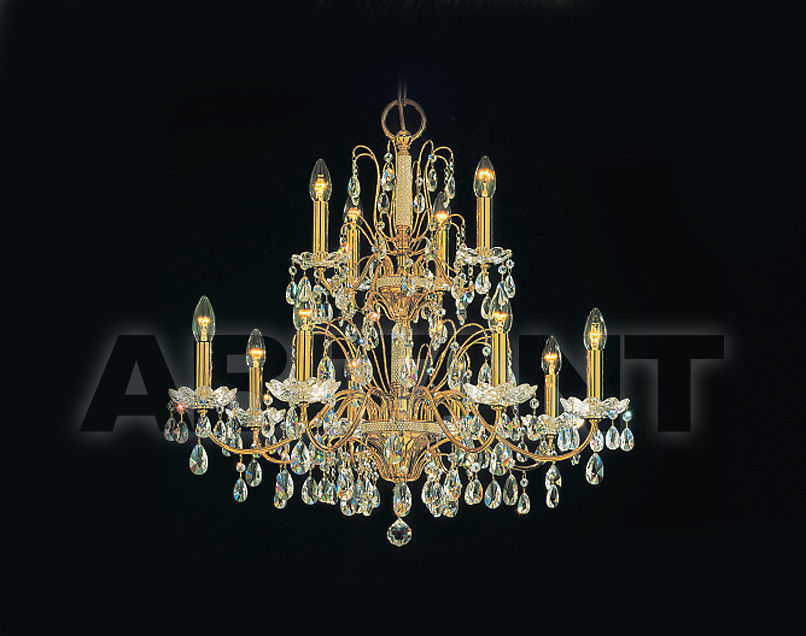 Купить Люстра Prearo Luxury Crystal STELLINA/8+4 24K-CR