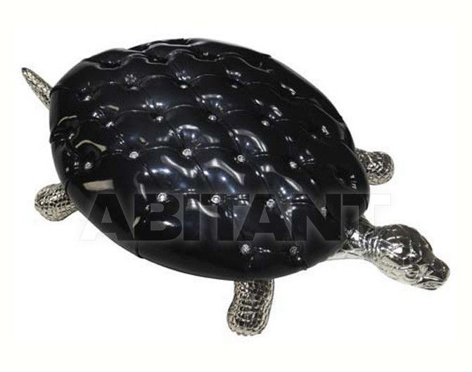 Купить Пуф Sergio Villa Mobilitaly 2003-2011 TURTLE Silver 635 & Eco-leather with Swarovski