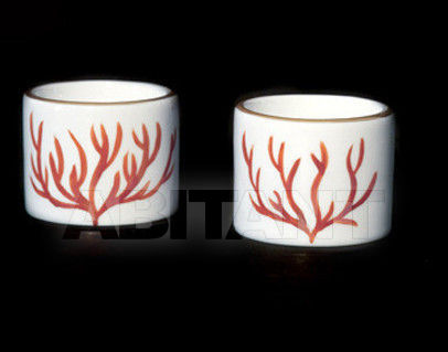 Купить Подсвечник Ines de Nicolay Coral Pair of round candle-holders Coral