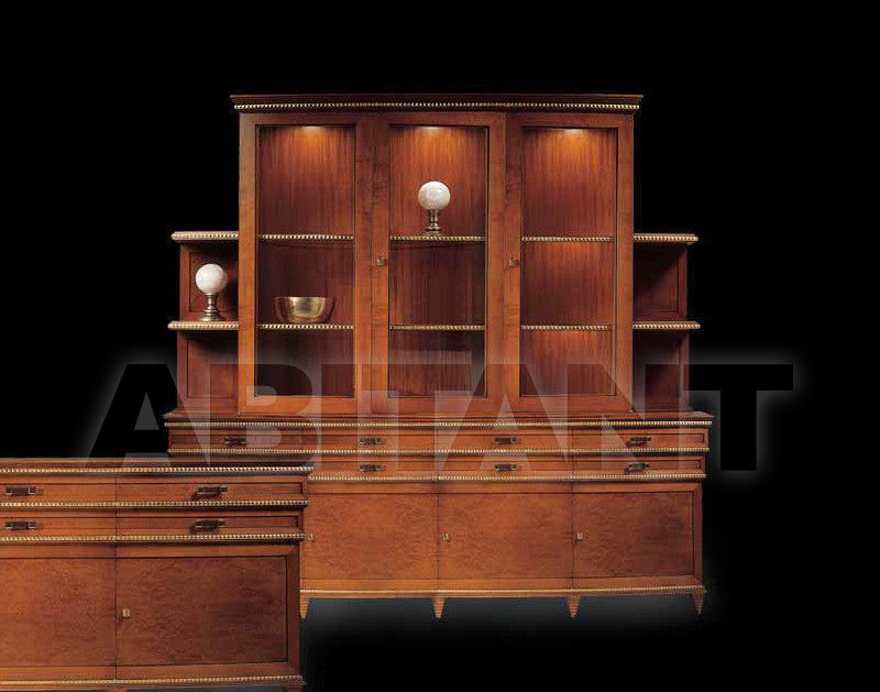 Купить Буфет DIAMANTE Isacco Agostoni Contemporary 1100 3-DOORS GLASS CABINET