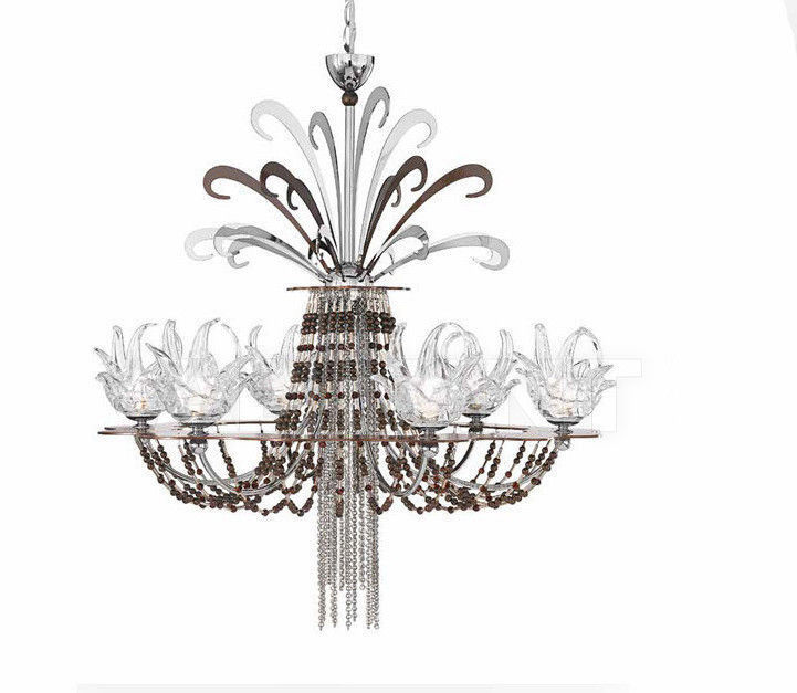 Купить Люстра IDL Export Dolce Vita Luxury Lighting 450/6+1 Nickel Chocolate