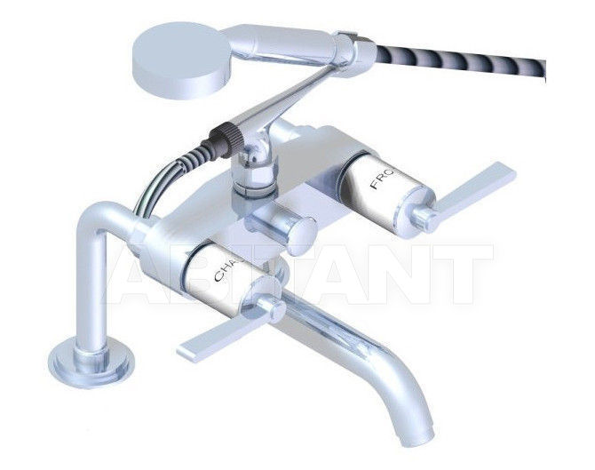 Купить Смеситель для ванны THG Bathroom G2J.13G Faubourg white porcelain with lever