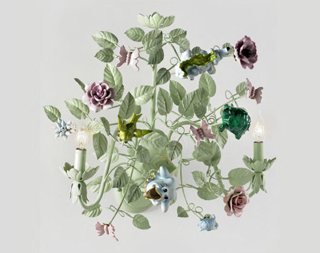 Люстра lampadario bouchet fiori e farfalle зеленая villari 4000307 ...