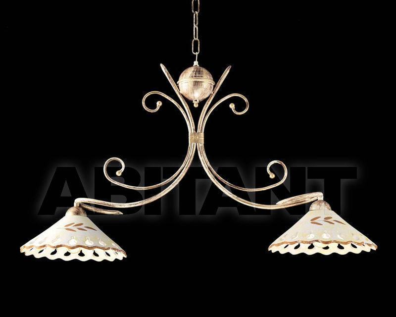Купить Люстра Ciciriello Lampadari s.r.l. Lighting Collection 2009 avorio - oro sospensione 2 luci