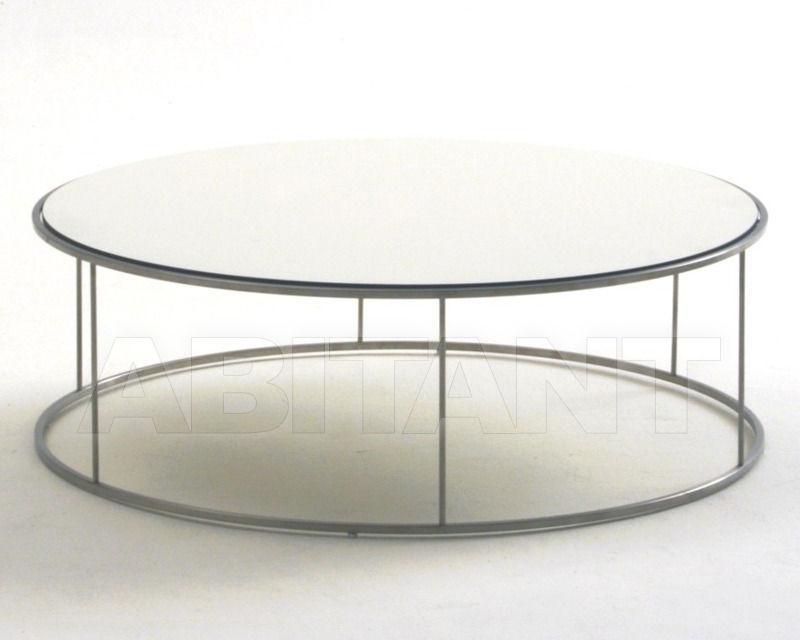 Столик кофейный белый круглый