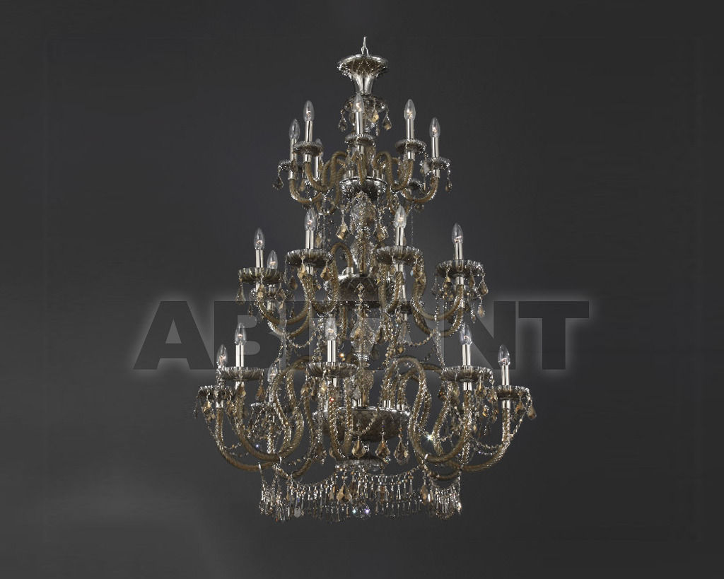 Купить Люстра Asfour Crystal Crystal 2013 CH 76/24 Chrome Pend Honey