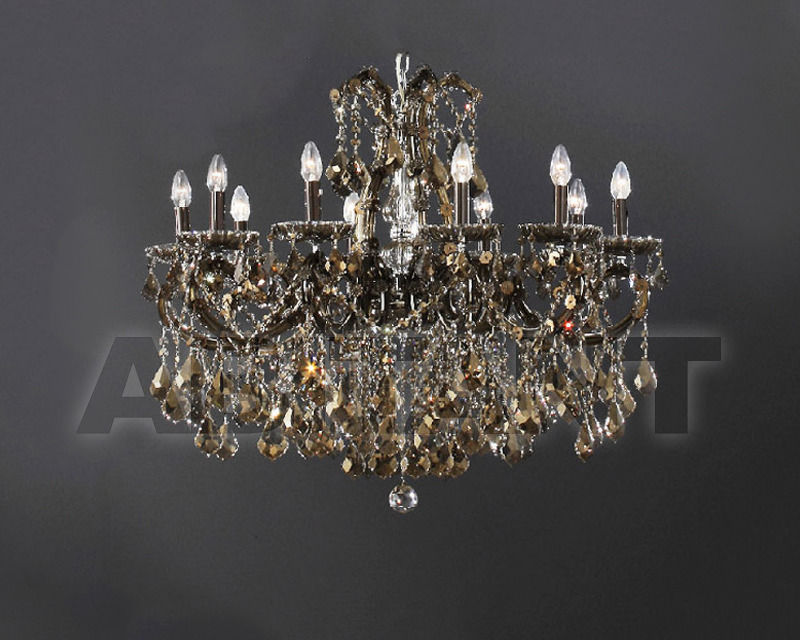 Купить Люстра Asfour Crystal Crystal 2013 PL 53/75/8 CHROME PEND HONEY
