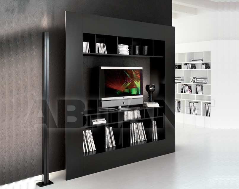 Шкаф книжный из мдф window tv, cattelan italia - мебель мр.