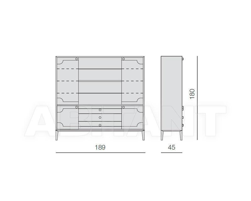 Схема Шкаф книжный Crivelli