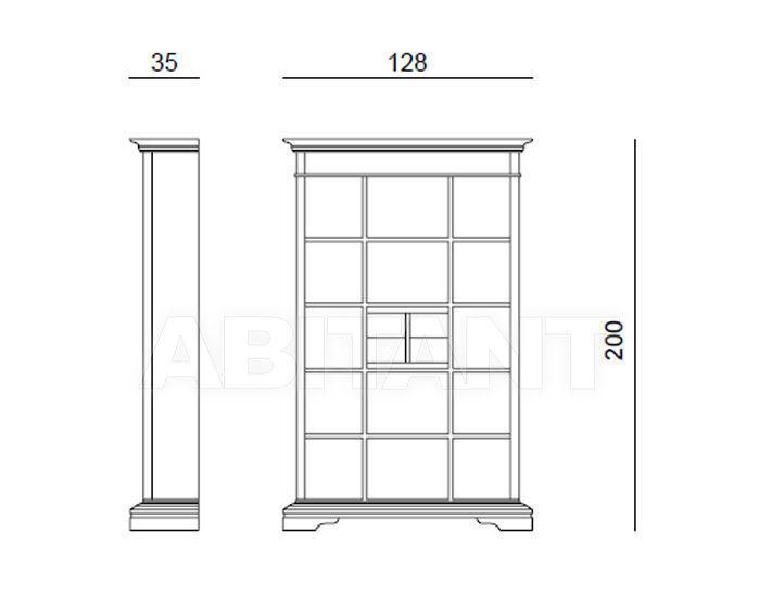 Схема Шкаф книжный ZENIT Tonin