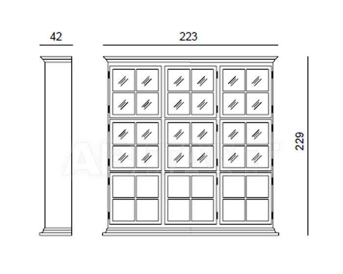 Схема Шкаф книжный ASADA Tonin