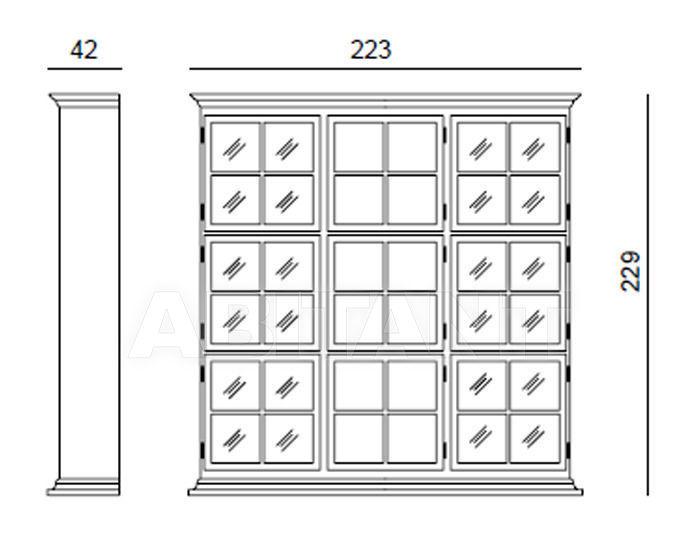 Схема Шкаф книжный ANDEL Tonin