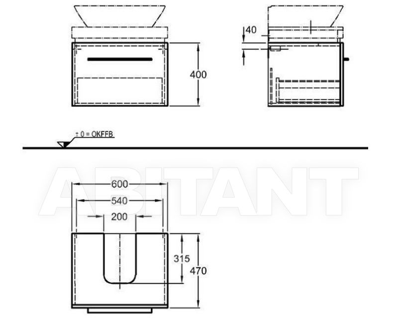 Схема Тумба под раковину