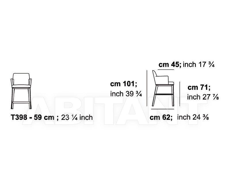 Схема Барный стул CLARA