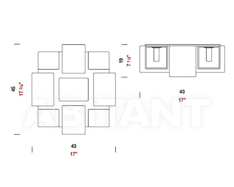 Схема Люстра Domino Panzeri