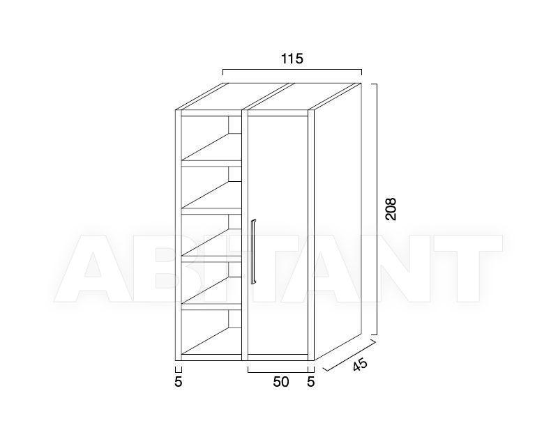 Схема Шкаф книжный Esalinea