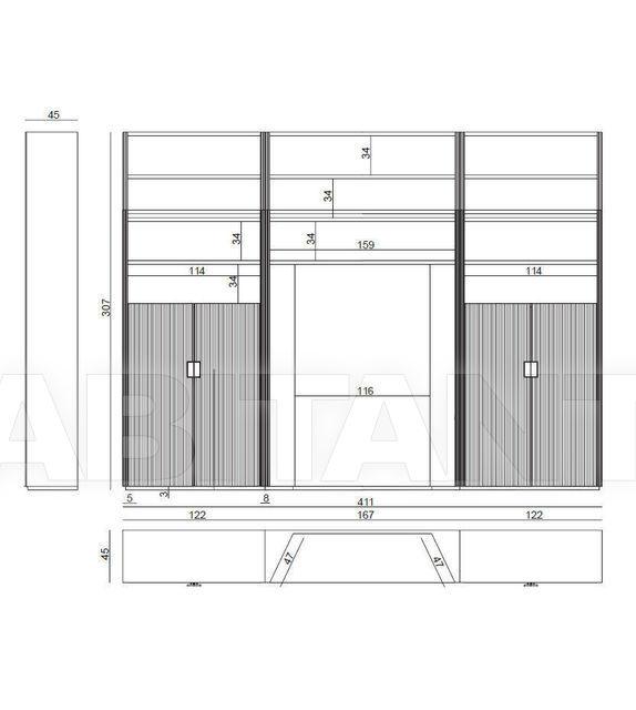 Схема Шкаф книжный IPE Cavalli