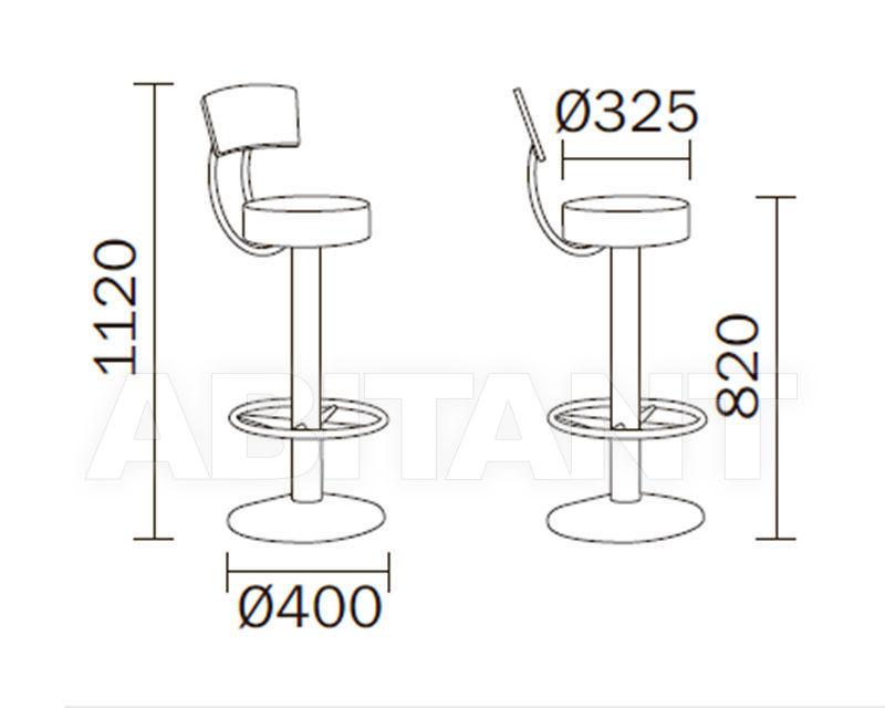 Схема Барный стул PAPUSSO